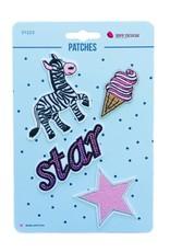 Bipp Design Patches - Zebra Star