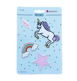 Bipp Design Patches - Unicorn Lightning