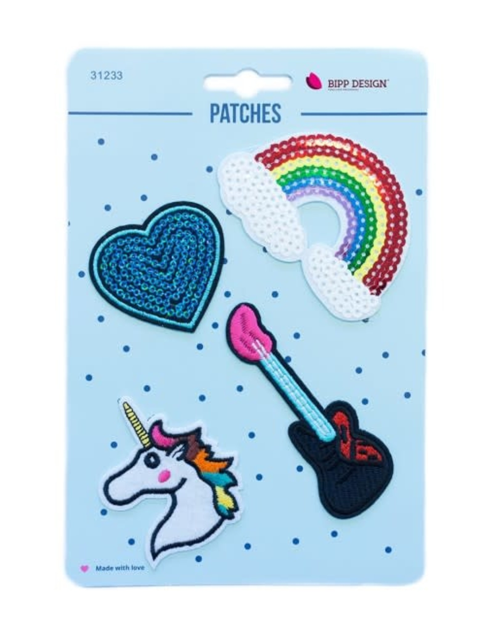 Bipp Design Patches - Rainbow Guitar
