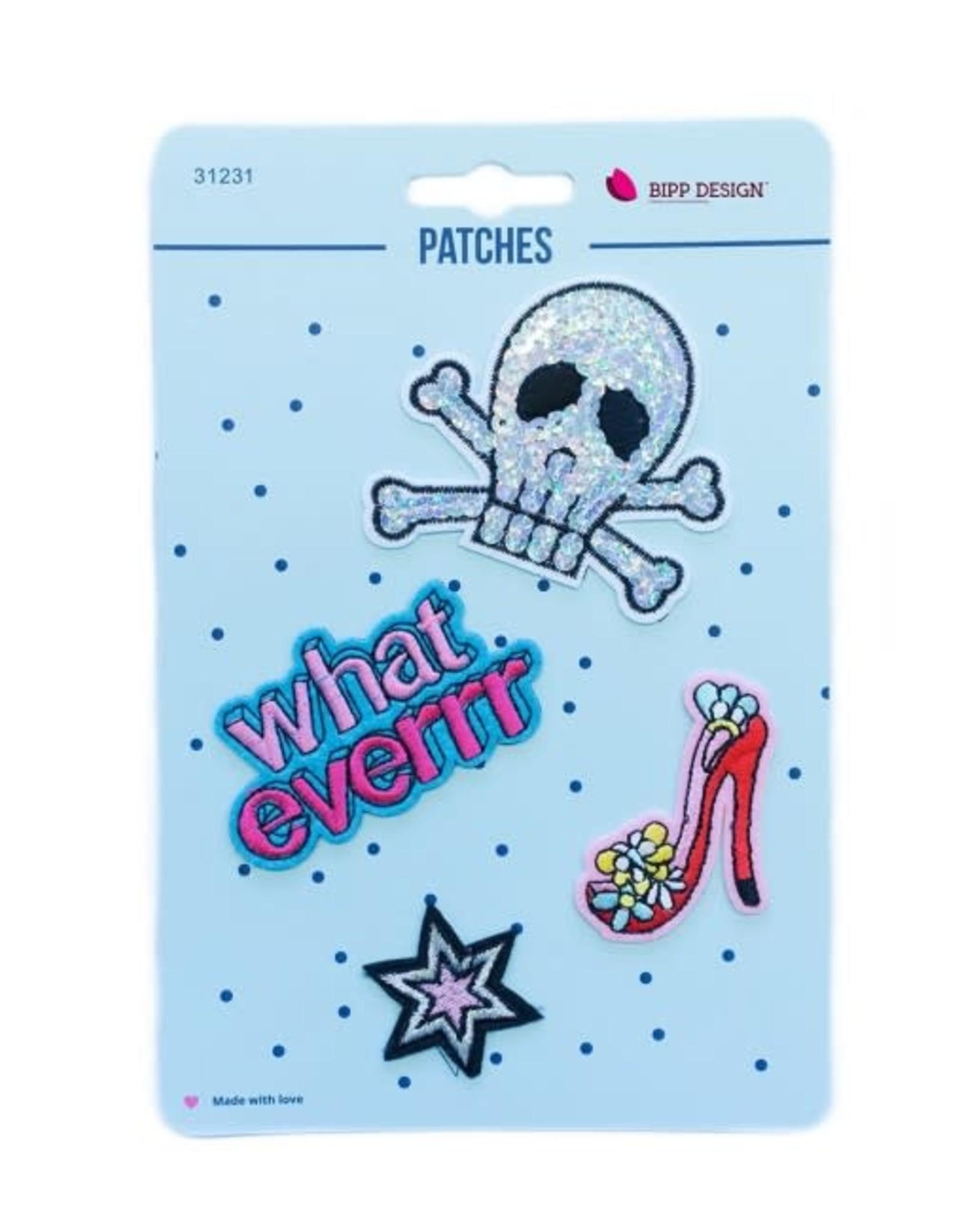 Bipp Design Patches - Whateverrr Skull
