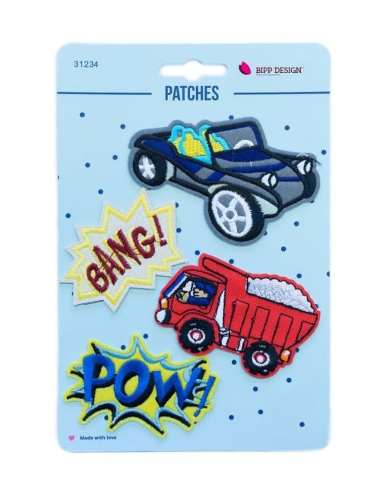 Bipp Design Patches - Bang Car