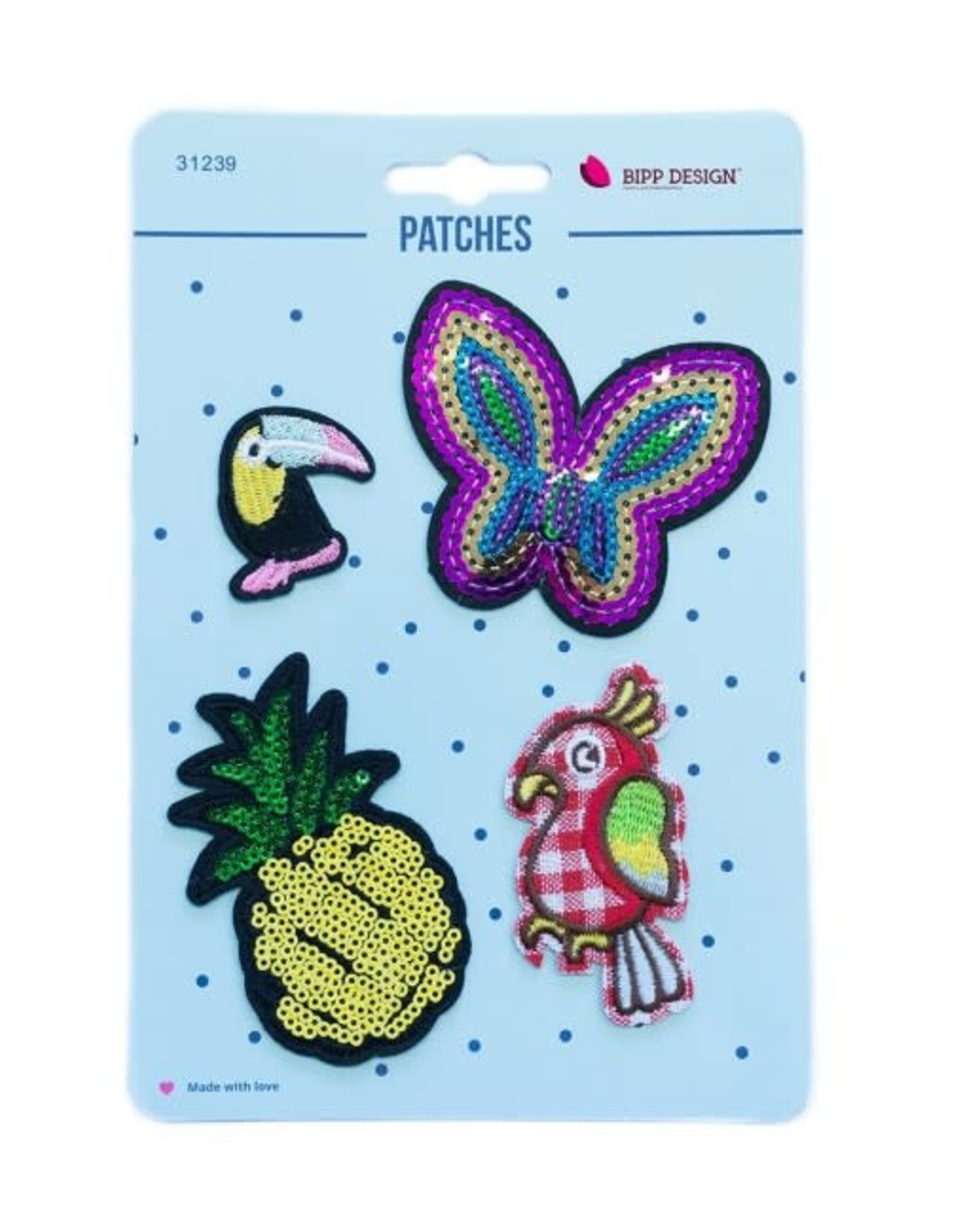Bipp Design Patches - Butterfly Pineapple