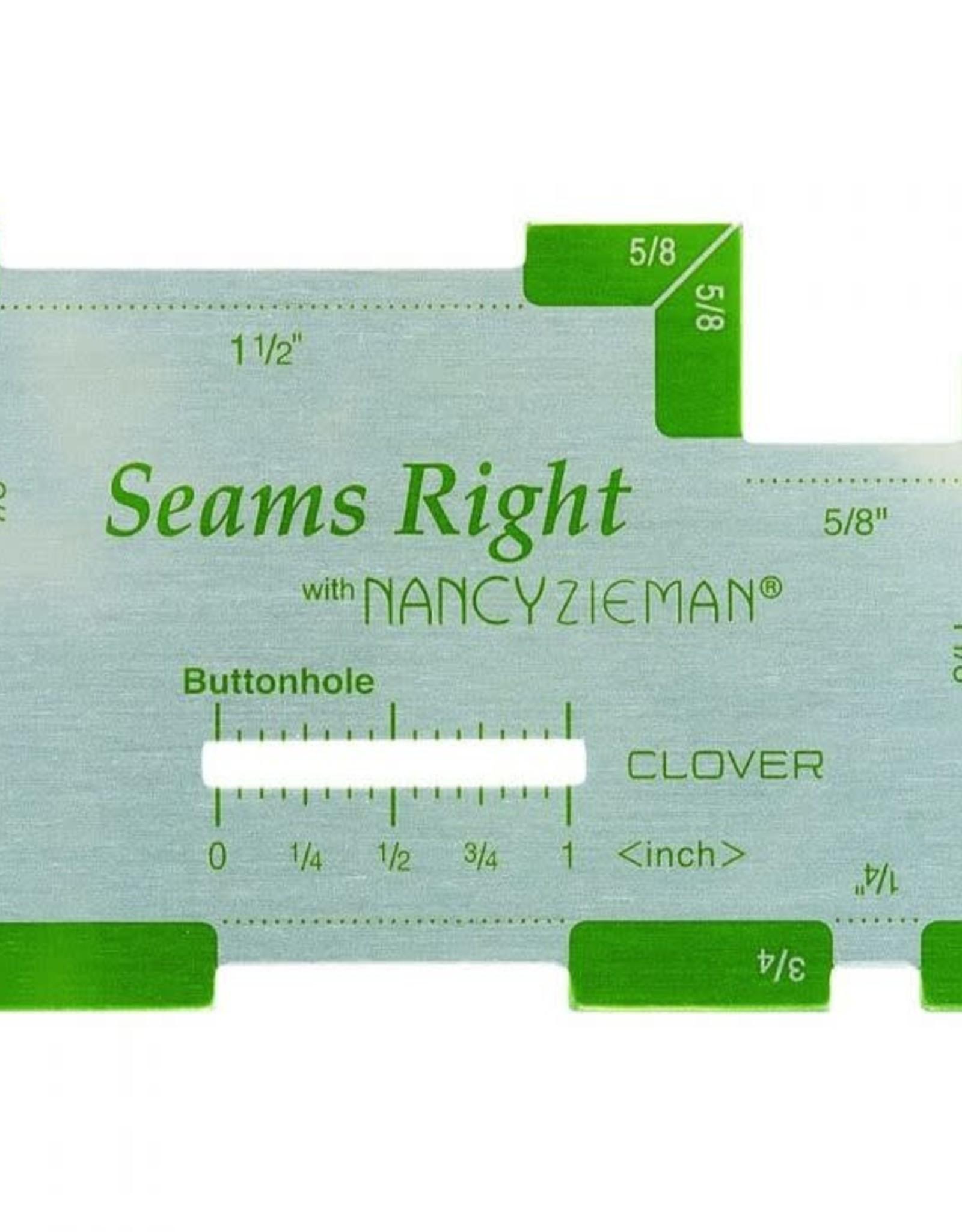 Clover Clover - Seams Right - Inches