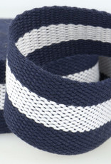 Tassenband - Blauw/Wit Gestreept - 40mm