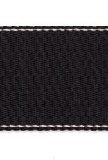 Tassenband - Zwart Soft - 40mm