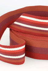 Tassenband - Double Sided Stripes Rood - 40mm