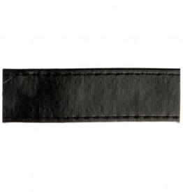Tassenband - Nepleder Zwart - 25mm
