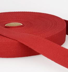 Tassenband - Donkerrood - 30mm