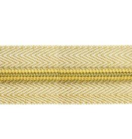 Rits op rol (excl. trekker) - Goud - Size 8