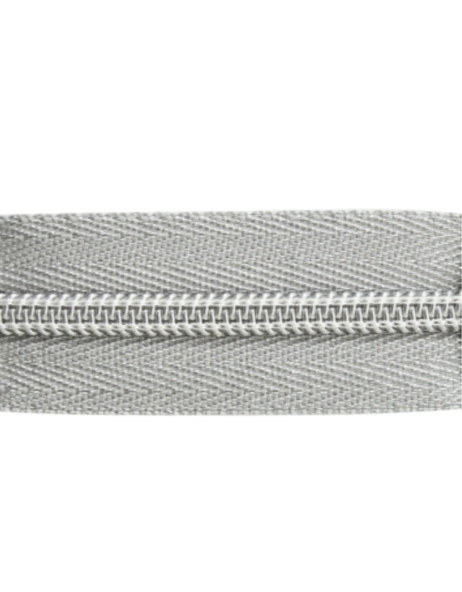 Rits op rol (excl. trekker) - Zilver - Size 8