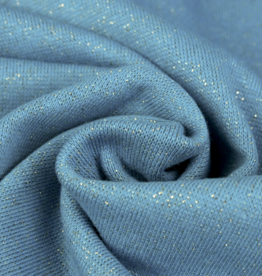 Boordstof Glamour - Jeansblauw