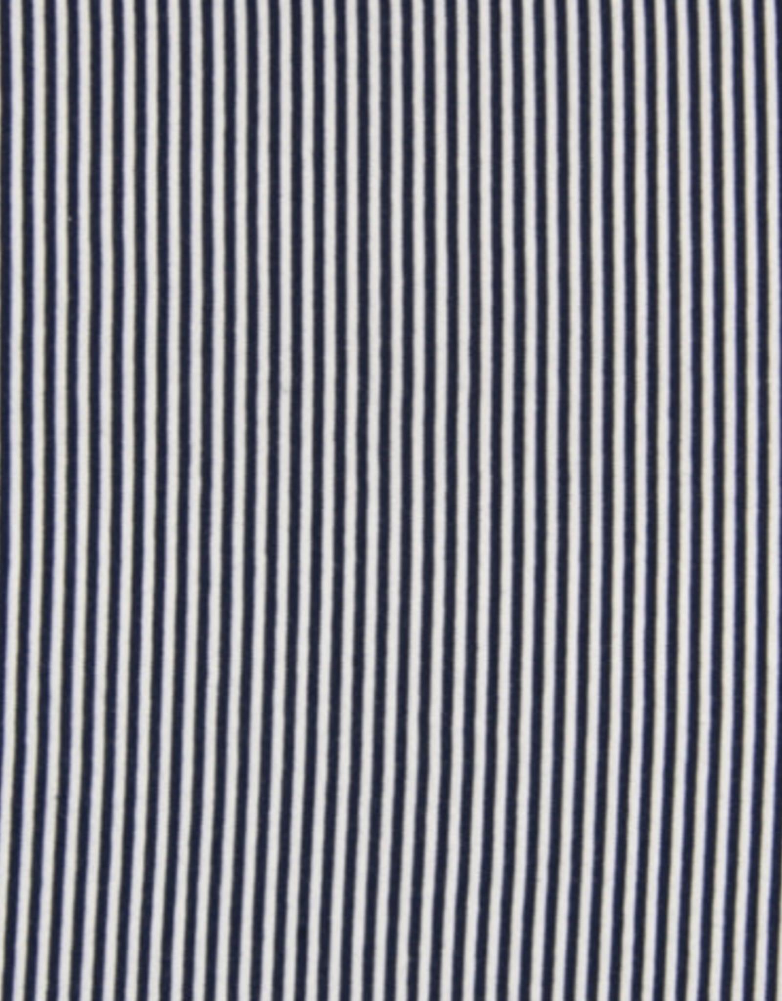 Boordstof Gestreept - Navy/Wit