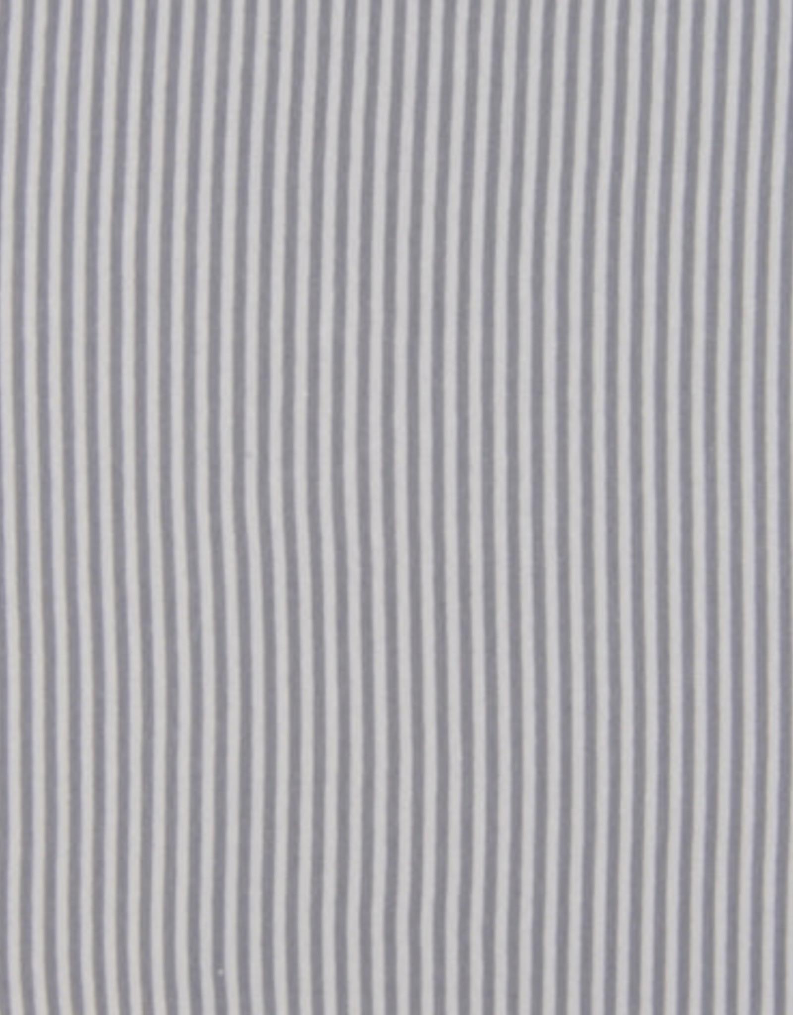 Boordstof Gestreept - Zilver/Grijs