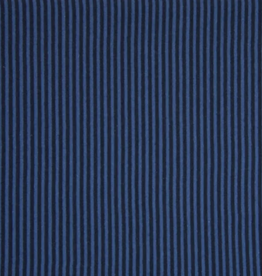 Boordstof Gestreept - Navy/Jeans