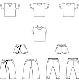 Bel'Etoile Nio/Nia shirt, short en broek