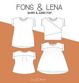 Wisj Fons shirt & Lena jurk/top Kids