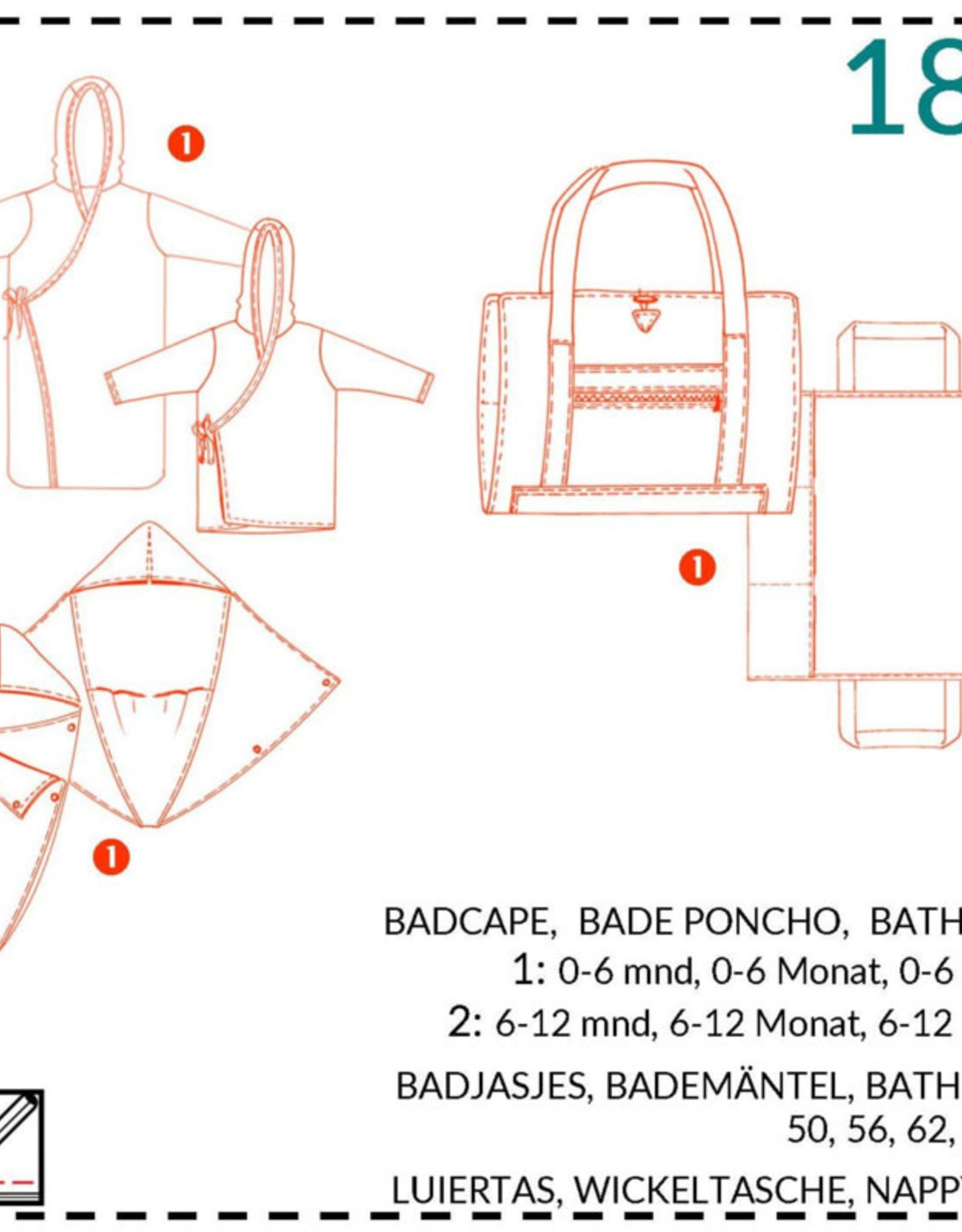 183 - Badcape, Badjas en luiertasje