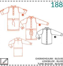 188 - Hemdjurk - Blouse voor meisjes 92-152