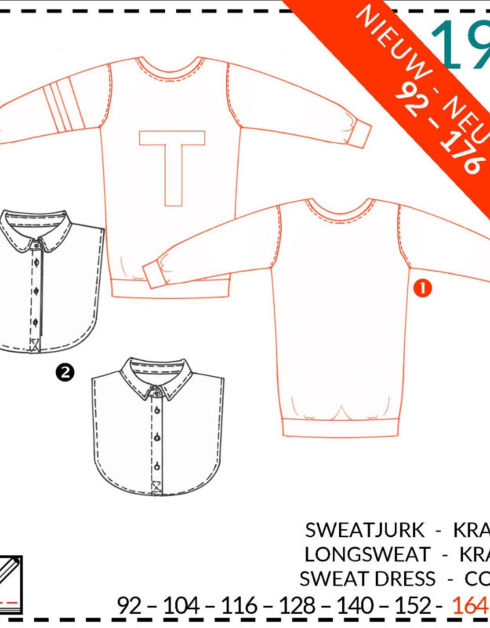 193 - Sweaterjurk en Kraagje voor meisjes 92-176