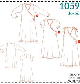 1059 - Overslagjurk voor dames 36-56