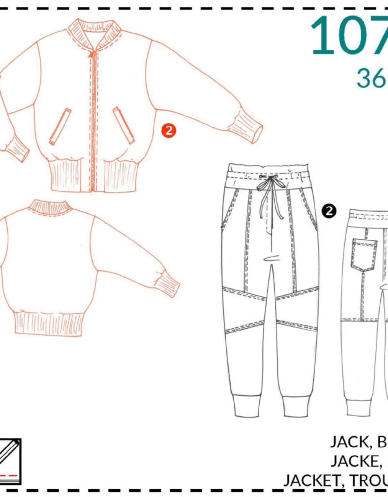 1074 - Jack & broek voor dames 36-48