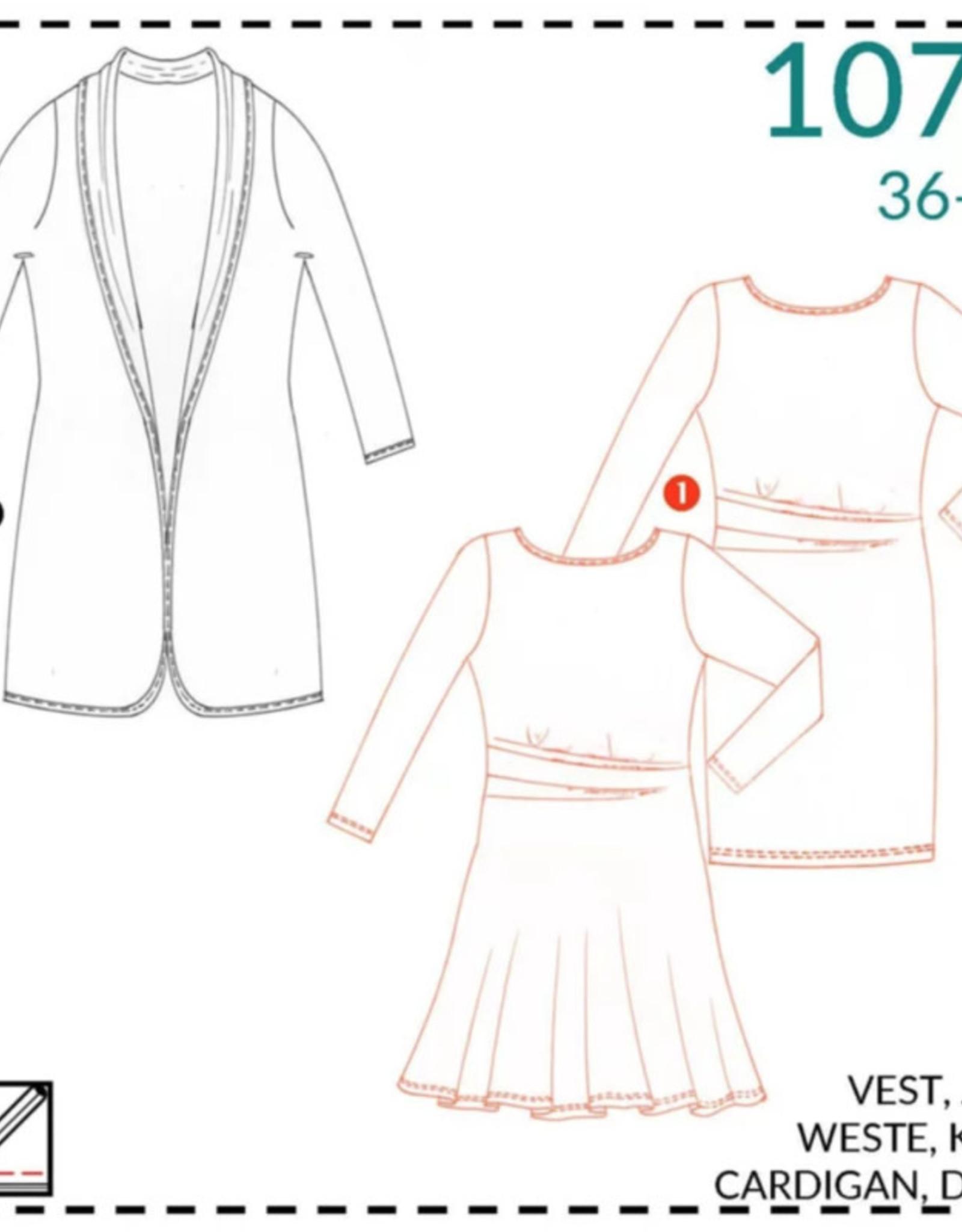 1072 - Vest en jurk 36-52