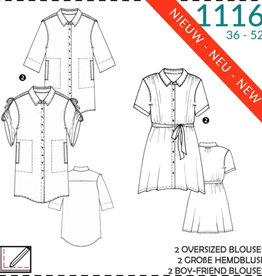 1116 - oversized blouses 36-52