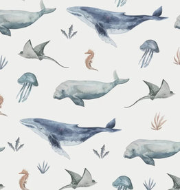 Family Fabrics Tricot - Family Fabrics - Deep Sea Life