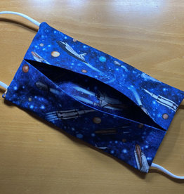 Mondmasker Kids - Raket Blauw Enveloppe