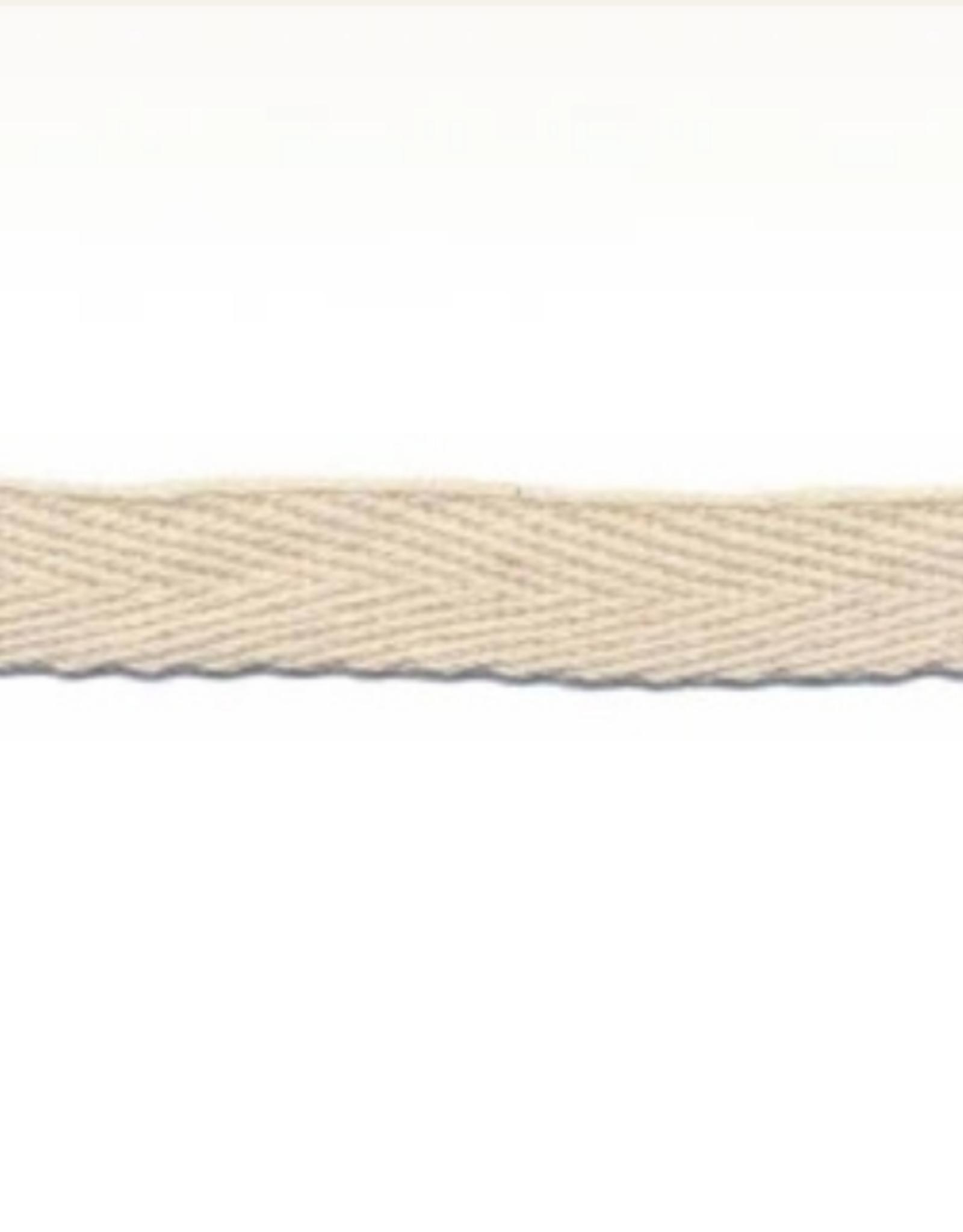 Katoenen lint Creme - Rol van 110m
