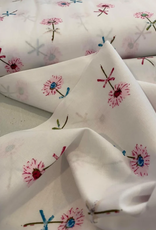 Katoen - Pink Flowery