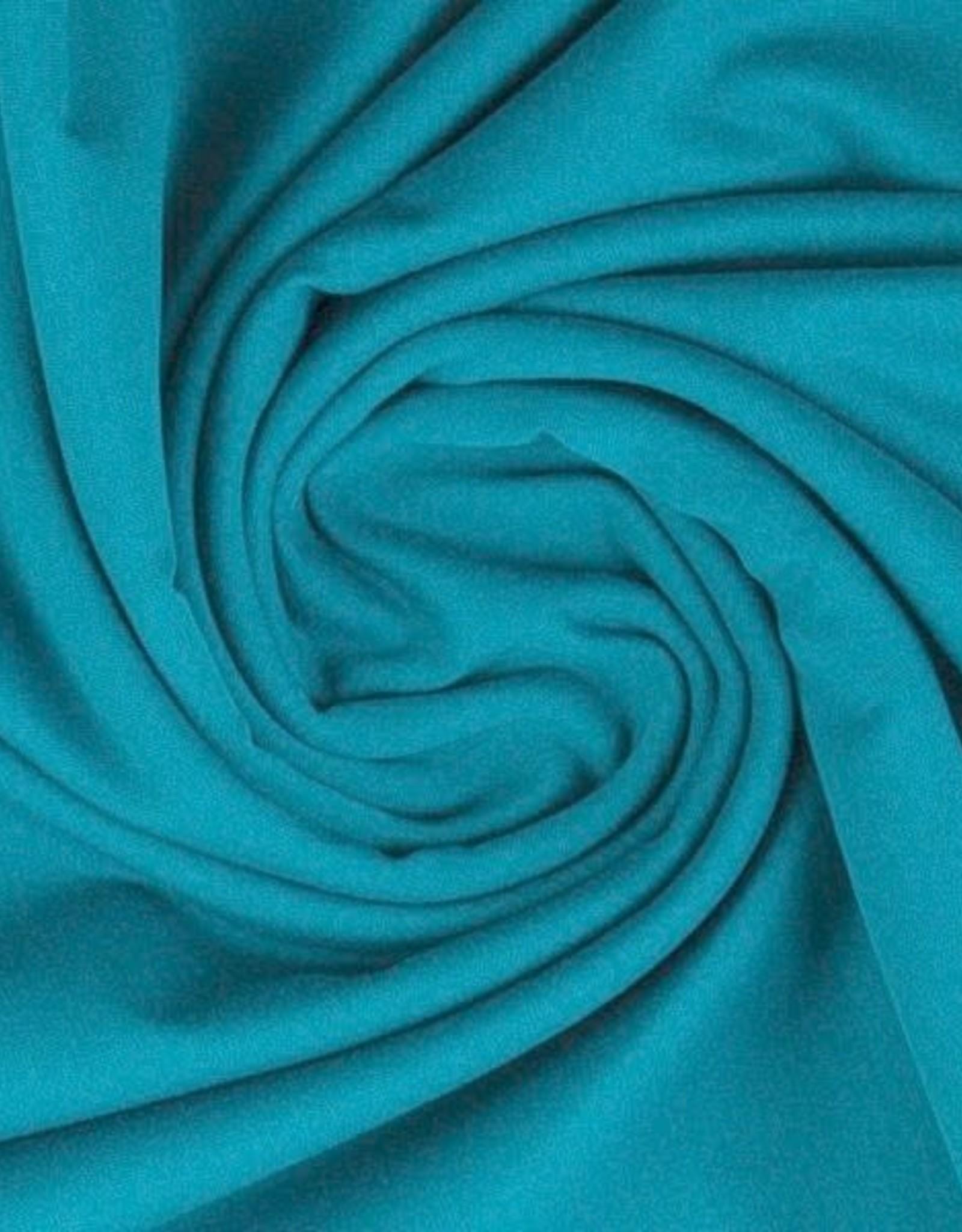 Katoentricot - Donker Turquoise