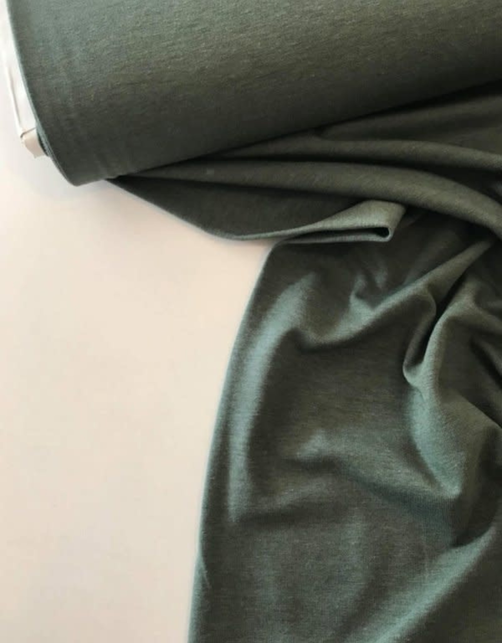 Katoentricot - Gemeleerd Khaki