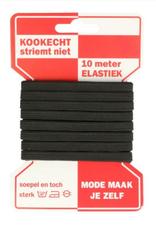 Rode Kaart elastiek - 6mm Zwart