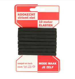 Rode Kaart elastiek - 6mm Zwart