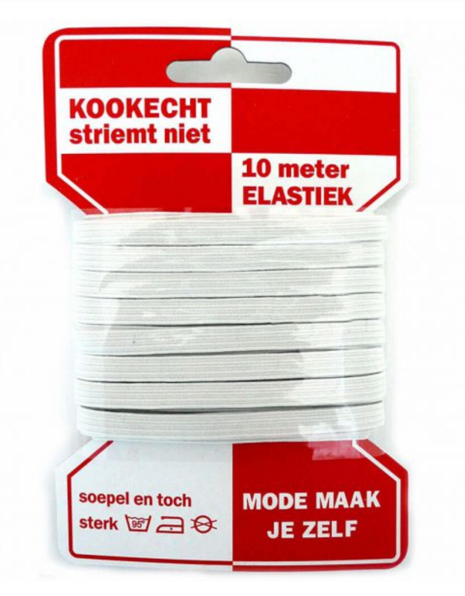Rode Kaart elastiek - 6mm Wit