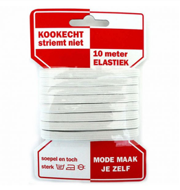 Rode Kaart elastiek - 6mm Wit