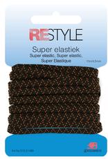 Super elastiek - 4,5mm Zwart