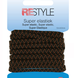 Super elastiek - 4,5mm Zwart