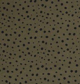 Tencel - Dots Kahki