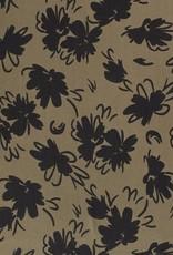Tencel - Flores Kahki