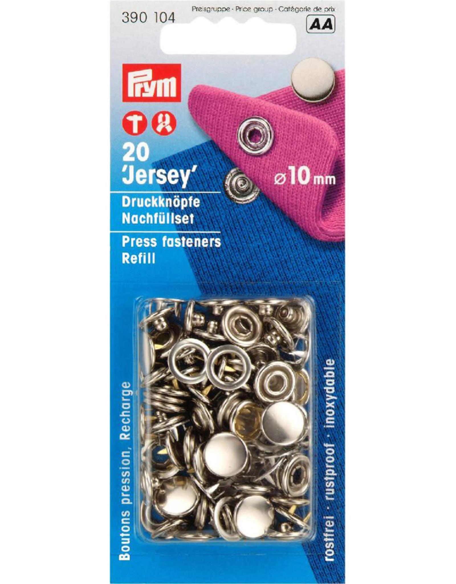 Prym Prym 390.104 - Jersey drukknopen - 10mm - Zilver - Navulling