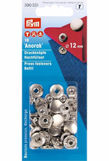 Prym 390.331 - Anorak drukknopen - 12mm - Zilver Navulling