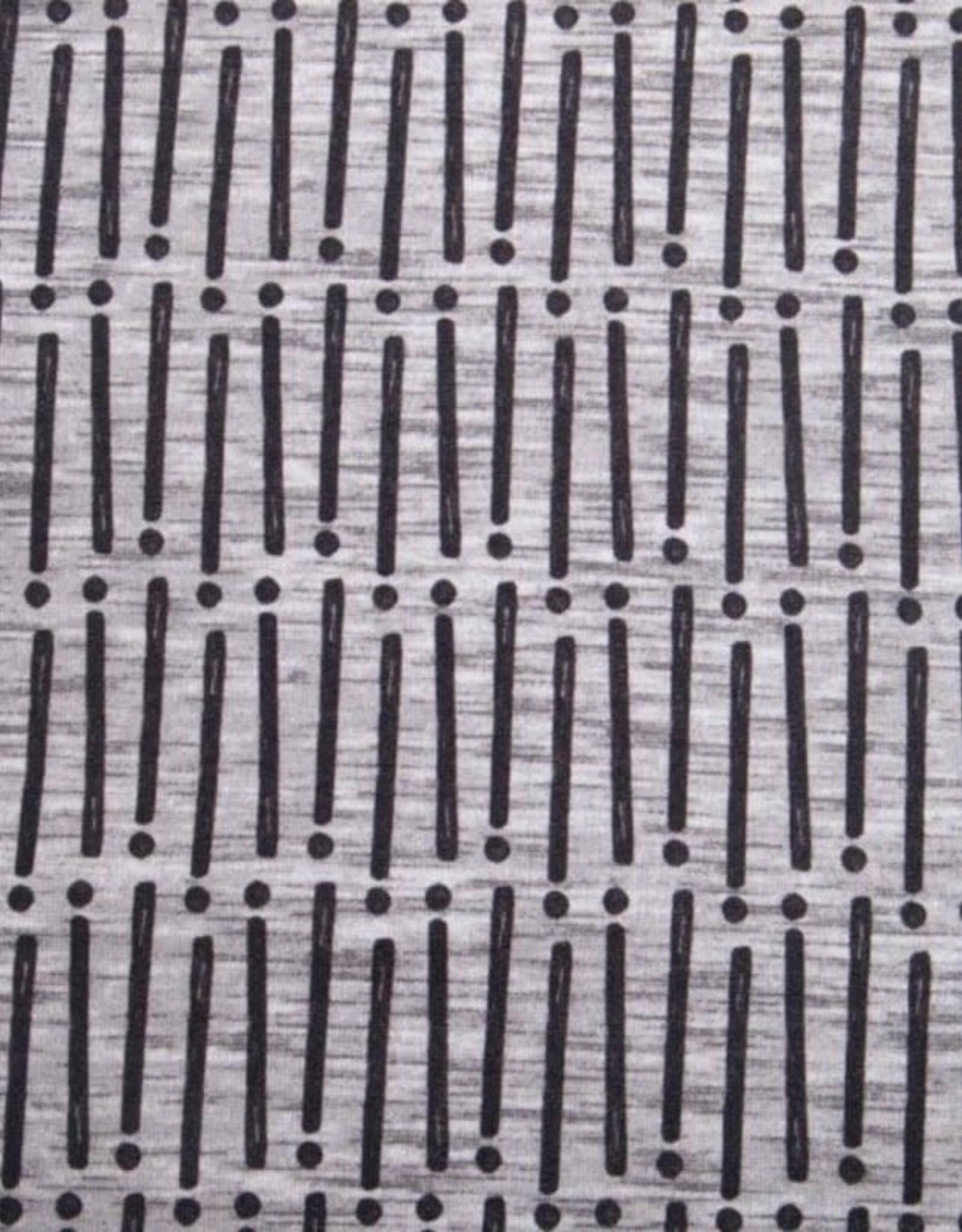 French Terry - Stripe Dot Grey