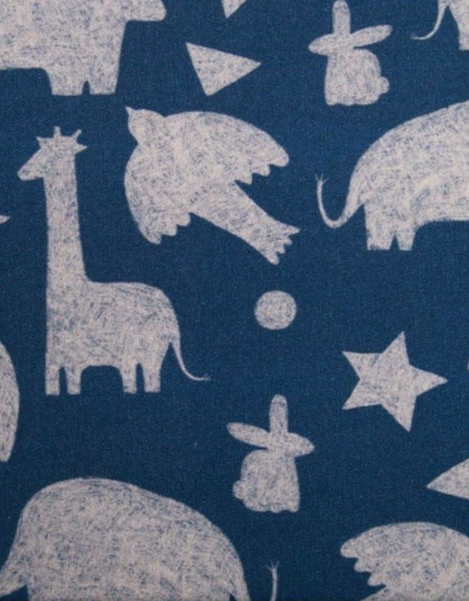 French Terry - Animal Silhouettes Blue