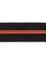 Rits op rol (incl. 1 trekker) - Zwart/Oranjebrons- Size 7