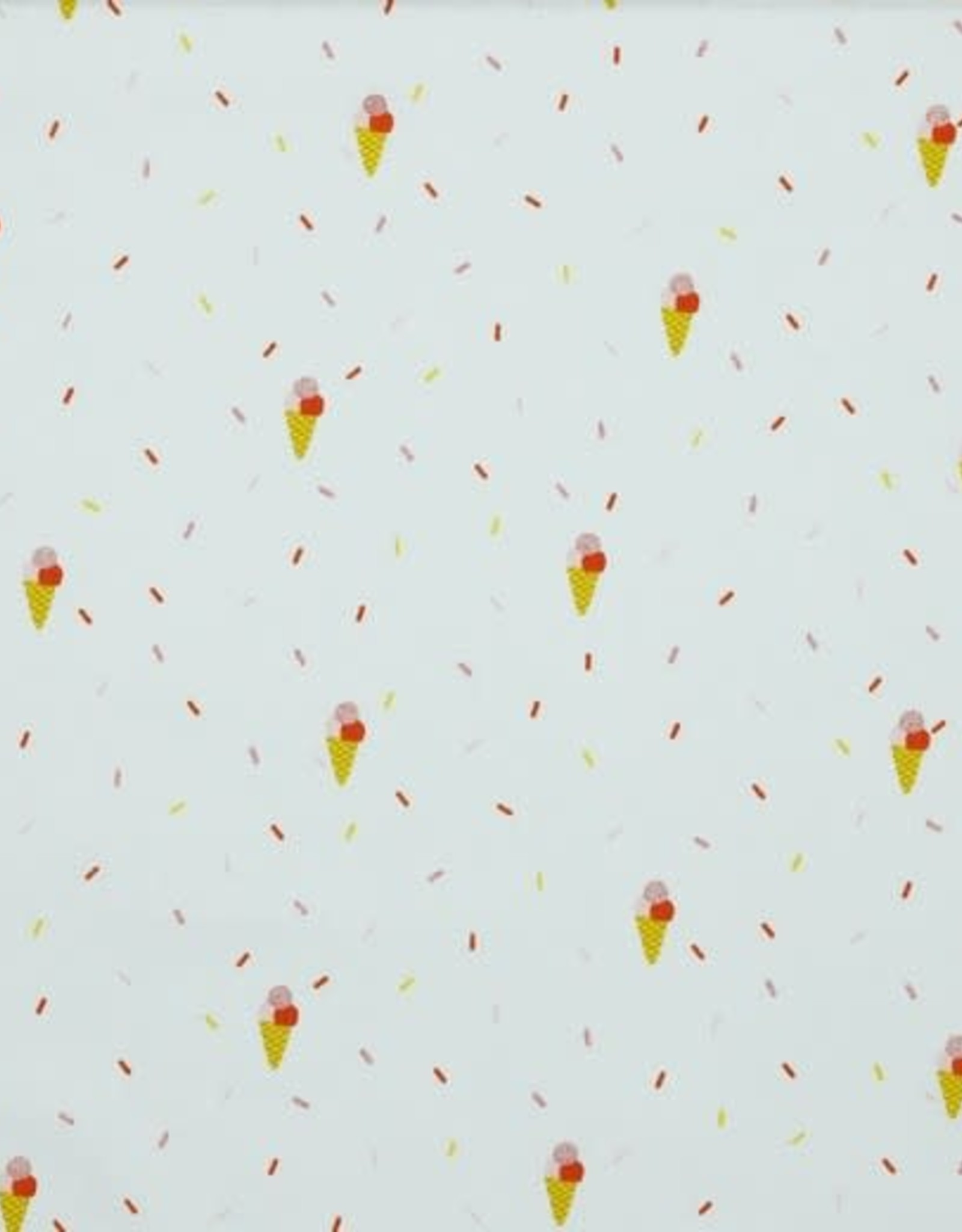 Katoen - Glitter Ice Cream White