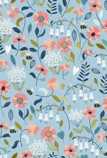 Katoen - Secret Garden Blue