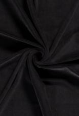 Velvet Stretch Rib - Zwart