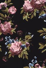Crêpe tricot - Garden Black